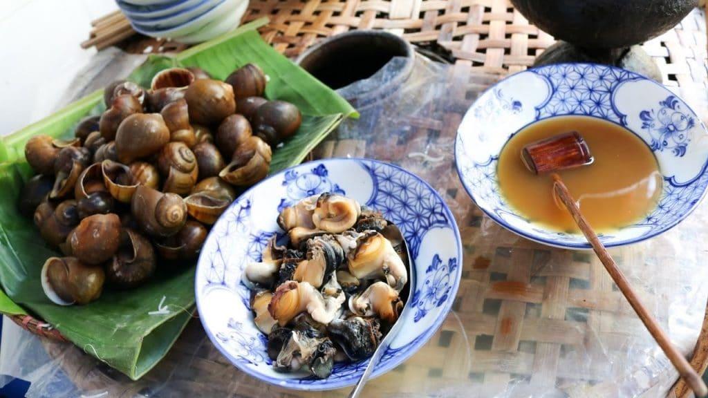 Banana-tofu snail soup